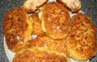 Котлеты из сыра и сосисок