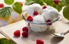 Мороженое с малиновым кремом