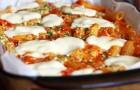 Паста с моцареллой и овощным соусом
