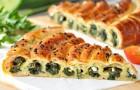 Пирог с домашним творогом и брынзой