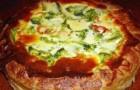 Пирог с фетой и креветками