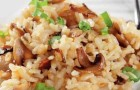 Рис с грибами и натуральным йогуртом