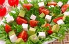 Салат из феты и авокадо