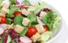 Салат с фетой и дайконом