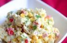 Салат с кукурузой, йогуртом, укропом