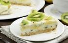 Торт с киви и натуральным йогуртом