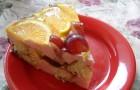Торт йогуртный с дыней и ягодой