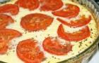 Творожный пирог с помидорами