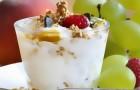 Йогуртовый крем с мюсли
