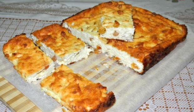 Запеканка с хлебом и домашним творогом