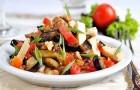 Салат с баклажанами и адыгейским сыром