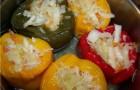 Пepeц, фаршированный белокочанной капустой