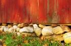 Каменный фундамента для теплицы