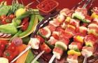 Шашлык из баранины с маринованными овощами