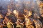 Шашлык из свинины, с редисом
