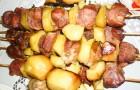 Шашлык из свинины с сыром