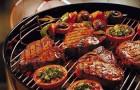 Барбекю из говядины с кабачками