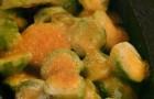 Брюссельская капуста под голландским соусом
