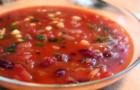 Фасолевый суп с грецким орехом