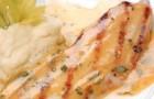 Филе камбалы с пюре из сельдерея и соусом бер блан