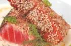 Филе лосося в кунжуте