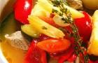 Густой суп из телятины по-деревенски