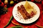 Кабоб из вареного мяса