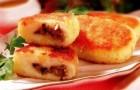 Картофельные зразы с консервированными грибами