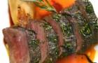 Корейка косули в травах с облепиховым соусом