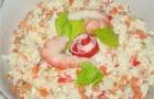Крабовый салат с запеченными овощами