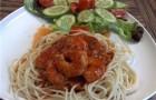 Креветки, в томатном соусе