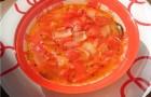 Луково-помидорный суп