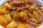 Овощное рагу с молодым картофелем