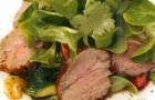 Овощной салат с корейкой ягненка