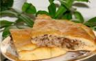 Пирог с гречневой кашей с грибами