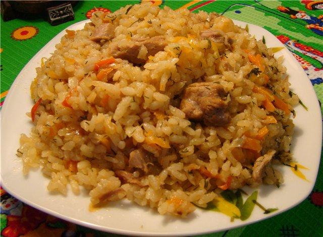 Плов с капустой и рисом по-арабски