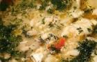 Похлебка из разных рыб с пшеном