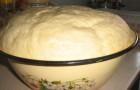 Постное дрожжевое тесто (опарный способ)