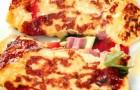 Роллы из омлета с сыром и ветчиной