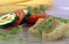 Рыбное филе с зеленым соусом