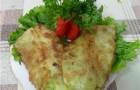 Шницель из капусты в белых сухарях со сметаной