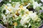 Салат из пекинский капусты с кукурузой