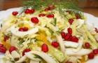 Салат из пекинской капусты с кальмаром