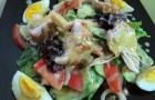 Салат с медово-горчичной заправкой
