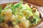 Салат с обжаренным картофелем и каперсами