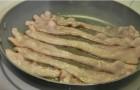 Сливочный соус с беконом и зеленью