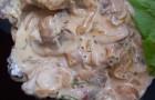 Соус с грибами и каперсами