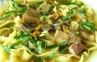 Суп-лапша грибной