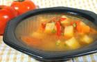 Суп-пюре из печеных овощей