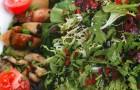 Теплый салат из лесных грибов